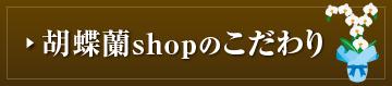胡蝶蘭shopのこだわり